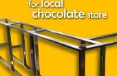Teller voor lokale chocolade winkel