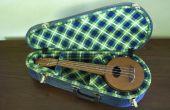 Een kartonnen ukulele koffer