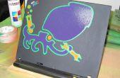 Spray verf stencil voor laptop