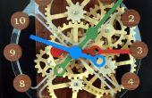 Houten Gear klok met Stepper Motor rijden