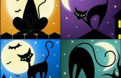 Tekening A Black Cat met behulp van vectoren