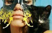 Starry Eyed Laser gesneden leer masker (geen naai, geen gereedschap nodig)