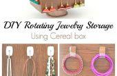 DIY Roterende sieraden opslag met behulp van Cereal doos