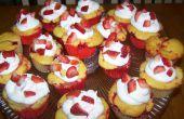 Aardbei Cupcakes met Swirl