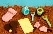 Hoe maak je Mini eetbare strand voor het versieren van de taart