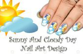 Hoe maken zonnig en bewolkt dag Nail Art