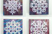 Kunst aan de muur DIY sneeuwvlok