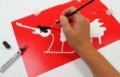Afbeeldingen met elektrische verf stencilkunst
