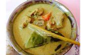 Thaise kip Curry van het groene