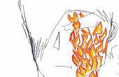 Tekenen van het hoofd van de jongen van manga