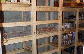 Koude berging in de kelder van het huis / Canning opslag / koude-opslag eenheid - gids om het te bouwen -