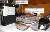 Glazen gemonteerd beeldweergave met één oog - zet jezelf in een Borg