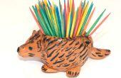 Doelgerichte stekelig Porcupine tandenstoker houder