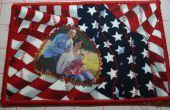 Steun onze jongens met een patriottische stof foto briefkaart - SewUseful Contest Entry