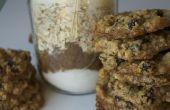 Havermout rozijnen Cookie in een pot