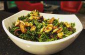 Boerenkool & Bimi salade met Maple Vinaigrette Dressing