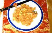 Hoe maak je Kimchi gebakken rijst met kip