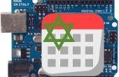 LCD klok met Hebreeuwse kalenderdatum en een Thermometer