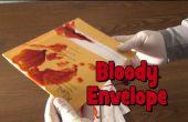 Last minute halloween prank (bloedige envelop)