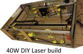 DIY 40W CNC Laser cutter, van kwaad tot beter met 3D printen