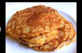 Hoe maak je gezonde, gluten vrije, flourless pannenkoeken
