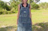 Up-cyclus Shop/tuinieren/Craft schort van Bib Overalls (geen naai richtingen aan eind)