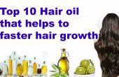 Top 10 natuurlijke haar olie ter bevordering van haargroei sneller