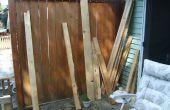 Houten Pallet dubbele stoel Bench geregenereerde