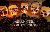 Suiker schedel vlamloze Votives