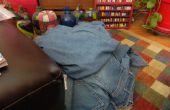 Deconstructing een paar Jeans met de minste hoeveelheid afval