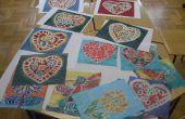 Wour eigen mooie batik op canvas schilderijen maken