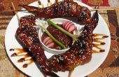 Sweet Dragon vleugels met pikante pinda saus