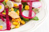Kipsalade met Lima bonen, bieten & spinazie