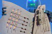 Geleidende lijmen en geleidende draad: Maak een LED-Display en stof Circuit dat van rolt.