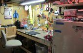 Mijn kelder Pegboard Workspace