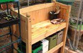Recycling van cabine Bed in een Bench potgrond