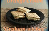 Graham Cracker Sandwiches met oranje crème vulling