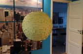 Lamp gemaakt van post-it notes