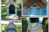 Hondenhok strandvilla DIY - met behulp van gerecycled/voorzien van materialen