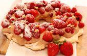 Pavlova taart met Nutella Fresh Cream & Fruit