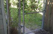 Meer privacy toevoegen aan keten-link fence met hout kunst