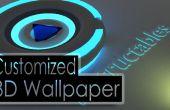 Maak een 3D aangepast behang met behulp van vrije software