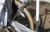 Gerecycled fiets band als fender
