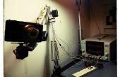 Robotarm van een bureaulamp (IKEA Tertial houwer)
