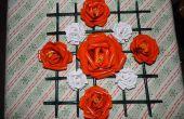 Papieren rozen met Frame
