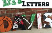 Sport thema houten Letters