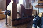 Zelfgemaakte Bench eiken Carvers Vice (Vise)