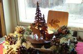 De kroon van Kerstmis /winter low-cost en gemakkelijk