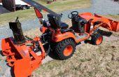 Verwijderen van sneeuwblazer van Kubota Tractor