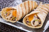 Gegrilde Cashew Chicken Wraps